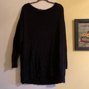 JUSTFAB Plus Size Wide Boatneck Sweater
